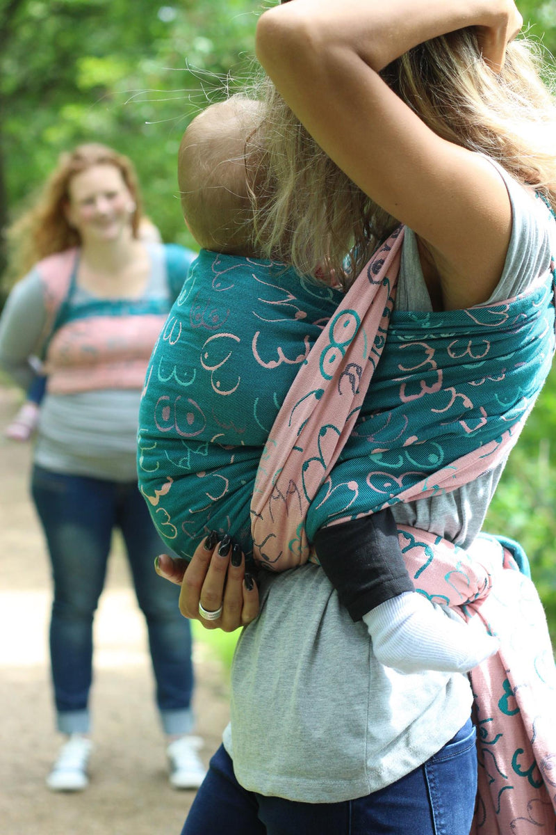 Yaro Boobs WBW Ultra Teal Rose baby wrap baby carrier