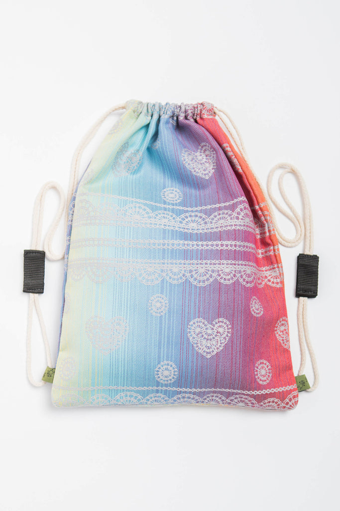 Lenny Lamb Rainbow Lace Silver Sackpack