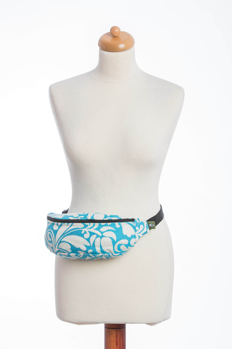 Lenny Lamb Twisted Leaves Cream and Turquoise Waist Bag