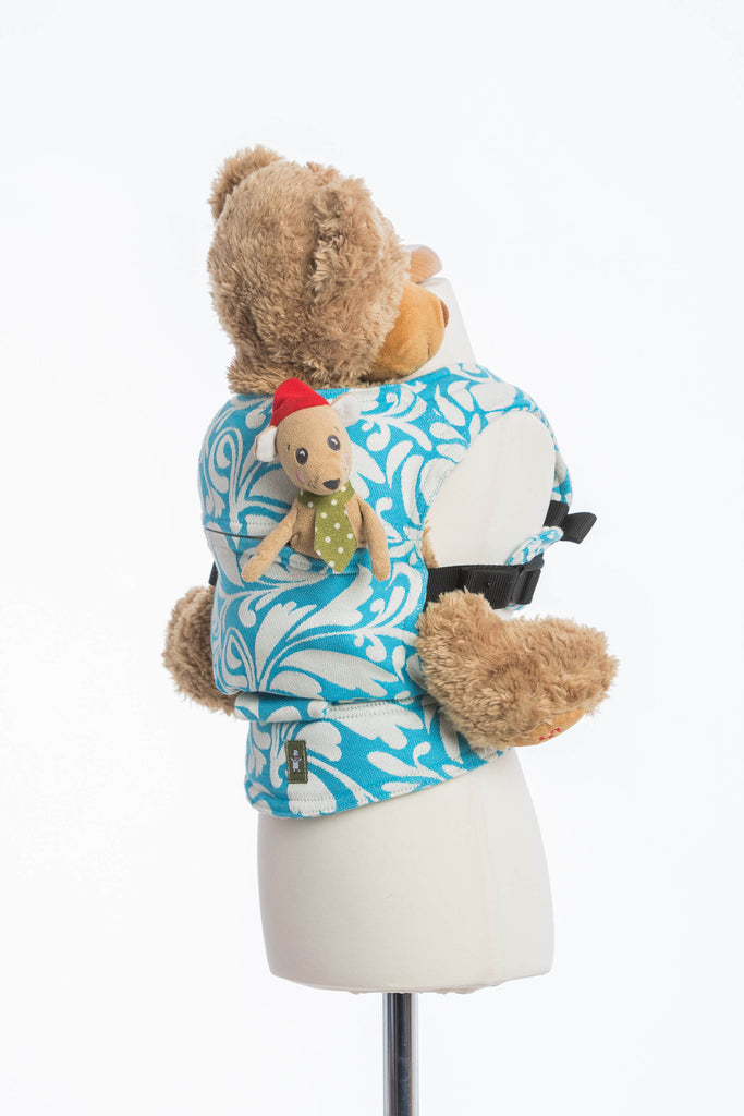 Lenny Lamb Twisted Leaves Cream and Turquoise Doll Carrier