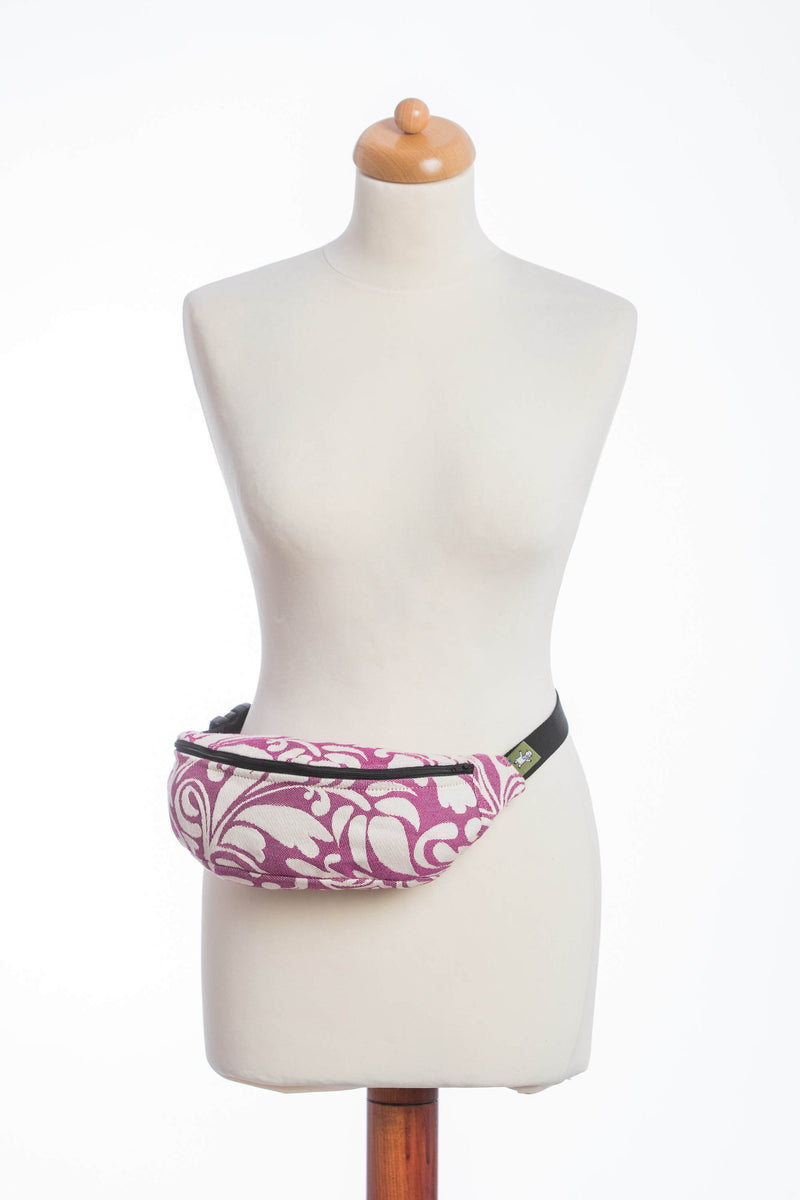 Lenny Lamb Twisted Leaves Cream and Purple Waist Bag