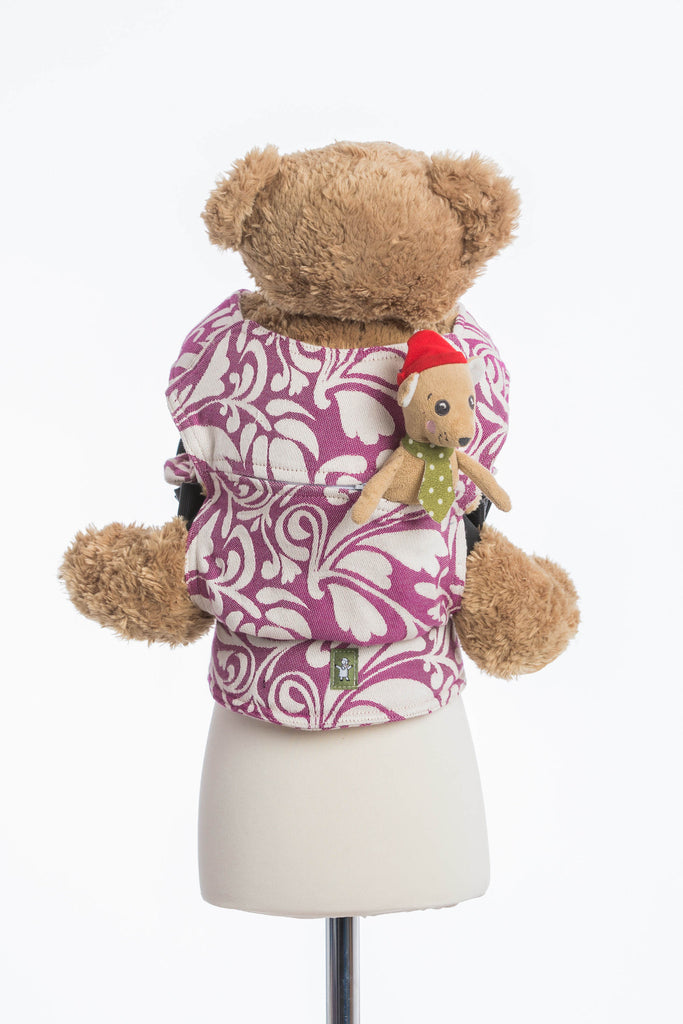 Lenny Lamb Twisted Leaves Cream and Purple Doll Carrier