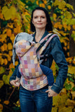 Lenny Lamb Crackle Weave Quartet Ergonomic Full Buckle Carrier (cotton)