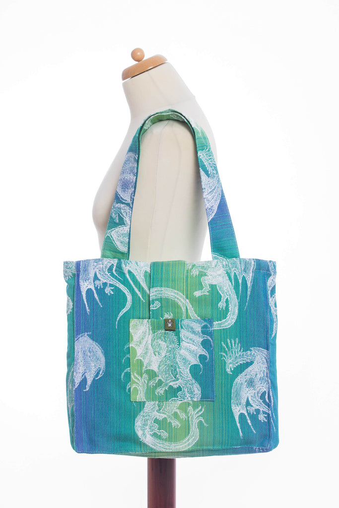 Lenny Lamb Dragon Green & Blue Shoulder Bag