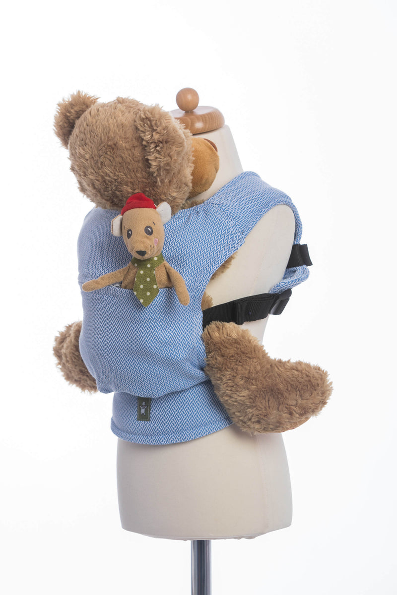 Products Lenny Lamb Little Herringbone Blue Doll Carrier Title Lenny Lamb Little Herringbone Blue Doll Carrier