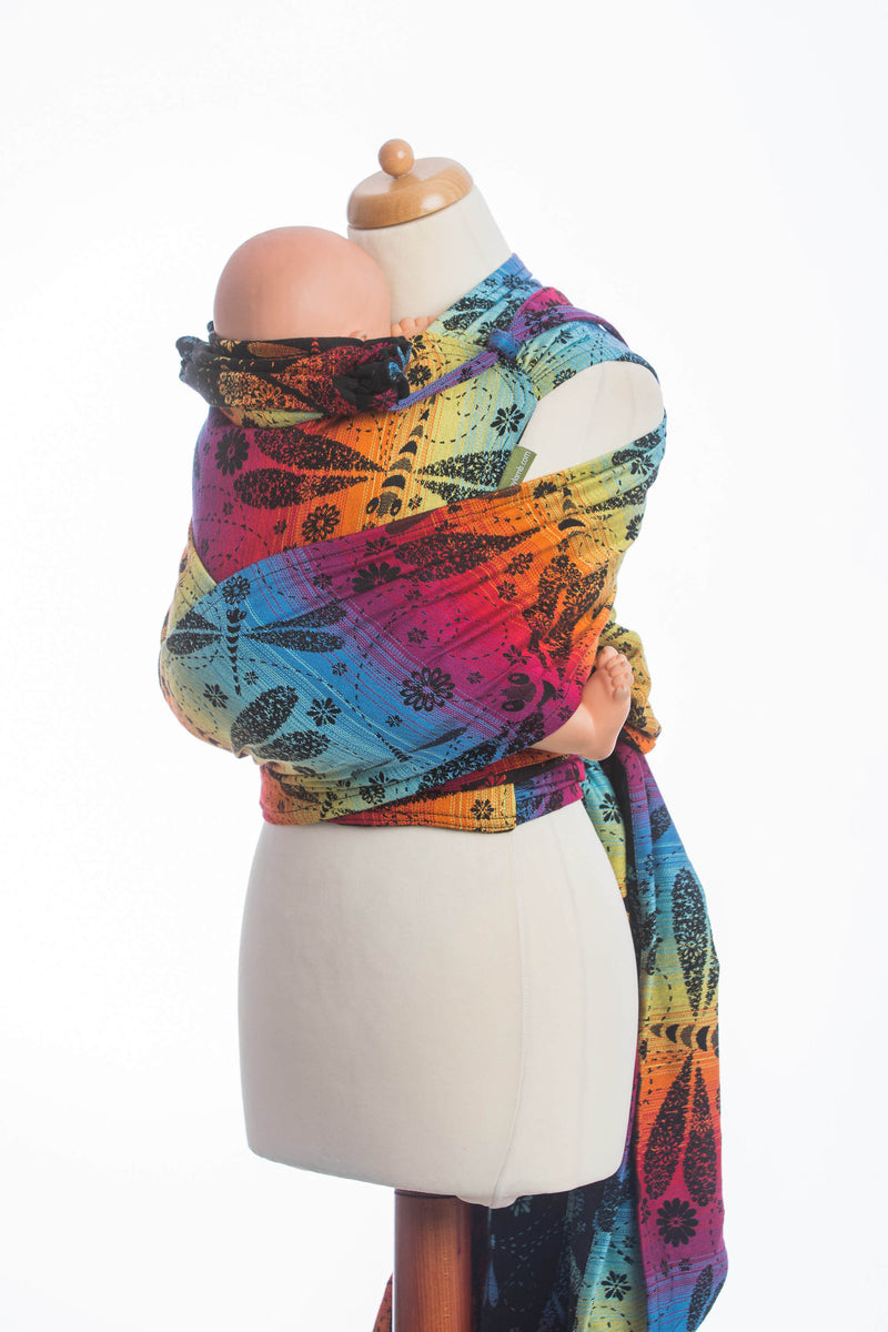 Lenny Lamb Dragonfly Rainbow Dark Wrap Tai