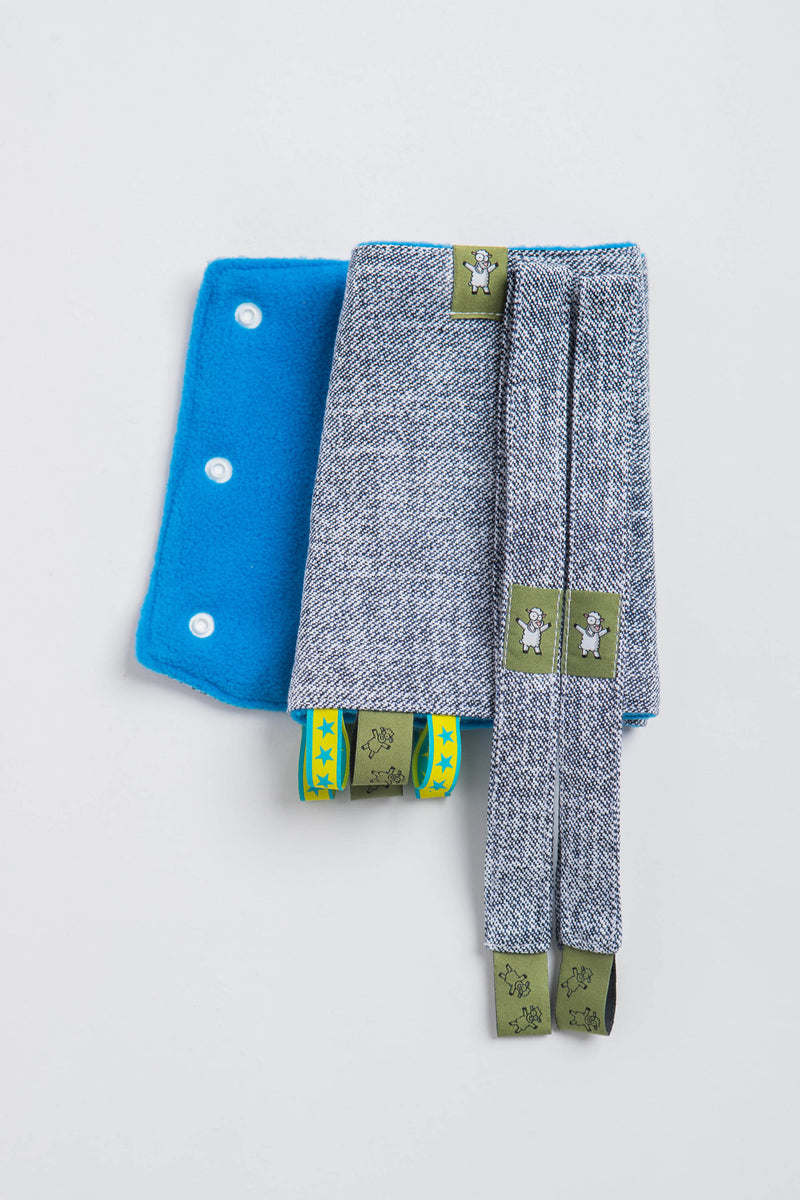 Lenny Lamb Denim Drool Pads and Reach Straps Set