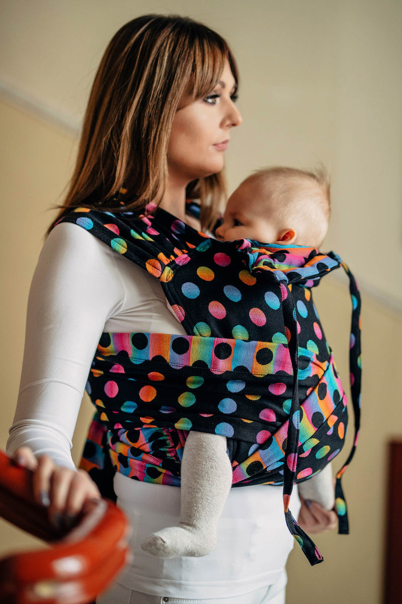 Lenny Lamb Polka Dot Rainbow Dark Wrap Tai