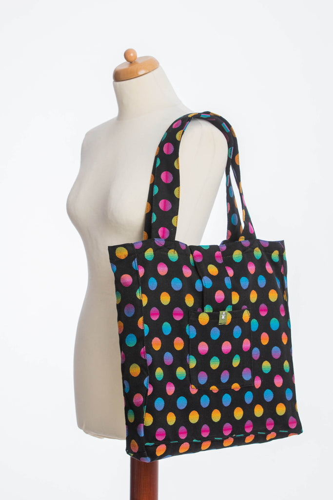 Lenny Lamb Polka Dot Rainbow Dark Shoulder Bag