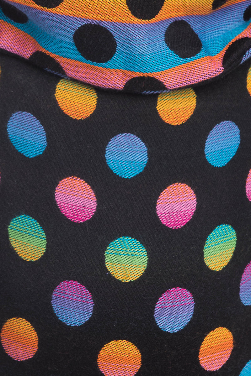Lenny Lamb Polka Dots Rainbow Dark Buckle Onbuhimo (cotton)