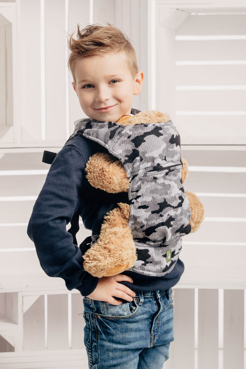 Lenny Lamb Grey Camo Doll Carrier