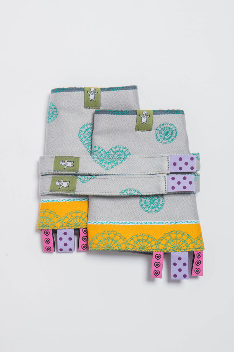Lenny Lamb Mint Lace Drool Pads and Reach Straps Set