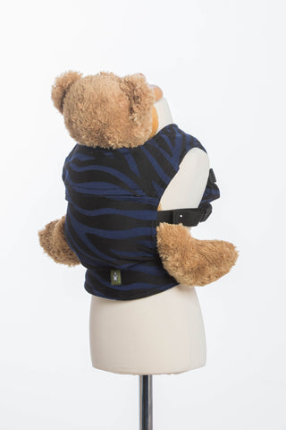 Lenny Lamb Zebra Black and Navy Blue Doll Carrier