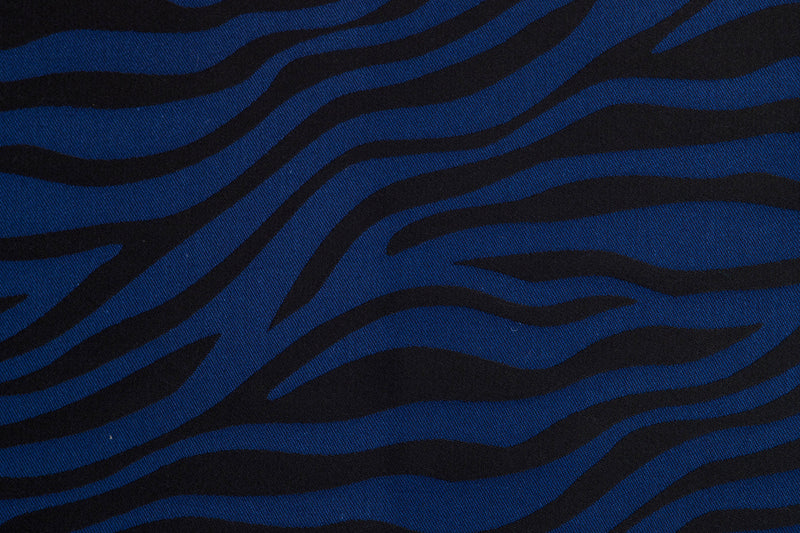 Lenny Lamb Zebra Black and Navy Blue Wrap (cotton)