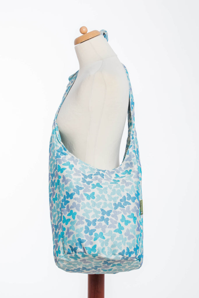 Lenny Lamb Butterfly Wings Blue Hobo Bag