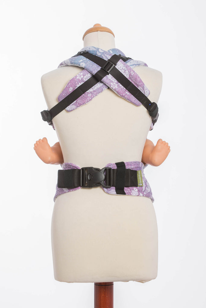 Lenny Lamb Dragonfly Lavender Ergonomic Full Buckle Carrier (linen blend)