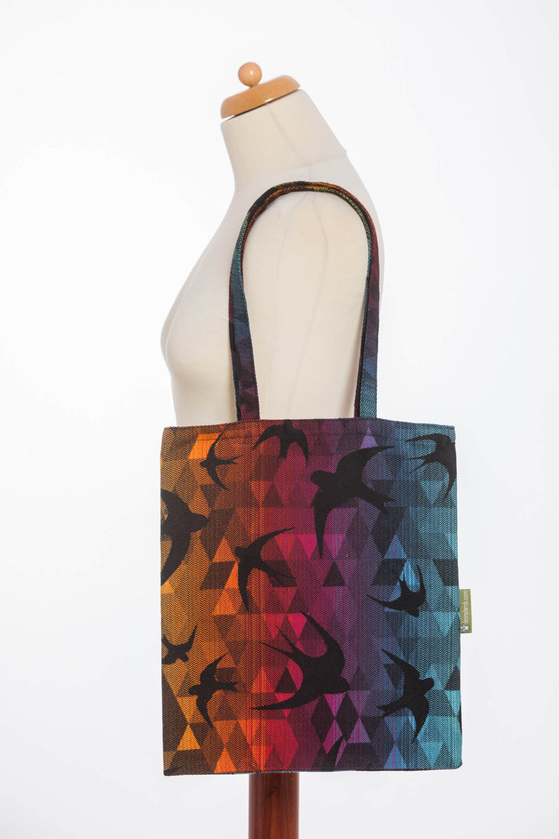 Lenny Lamb Swallows Rainbow Dark Shopping bag