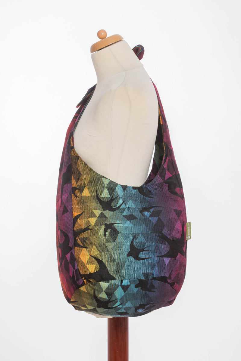 Lenny Lamb Swallows Rainbow Dark Hobo Bag