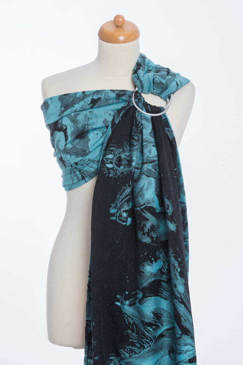 Lenny Lamb Gallop Black and Turquoise Ring Sling