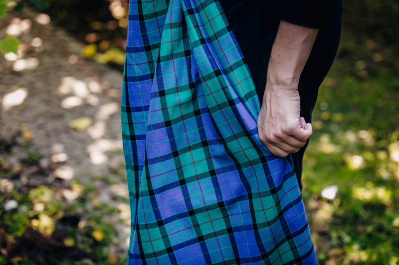 Lenny Lamb Countryside Plaid Wrap