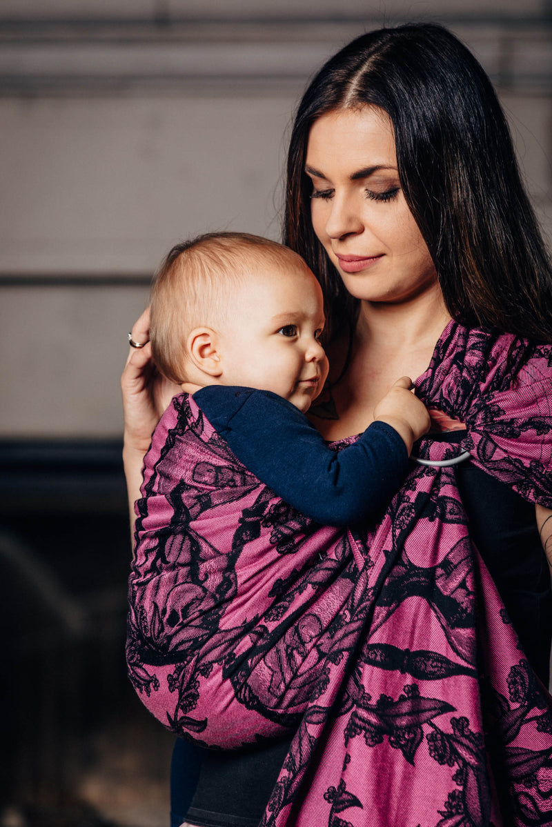 Lenny Lamb Time Black and Pink Ring Sling