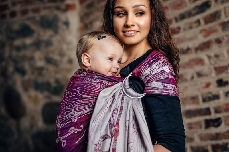 Lenny Lamb Bubo Owls Lost in Bordeaux Ring Sling