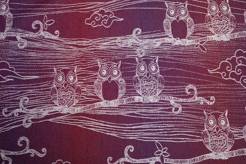 Lenny Lamb Bubo Owls Lost in Bordeaux Shopping bag