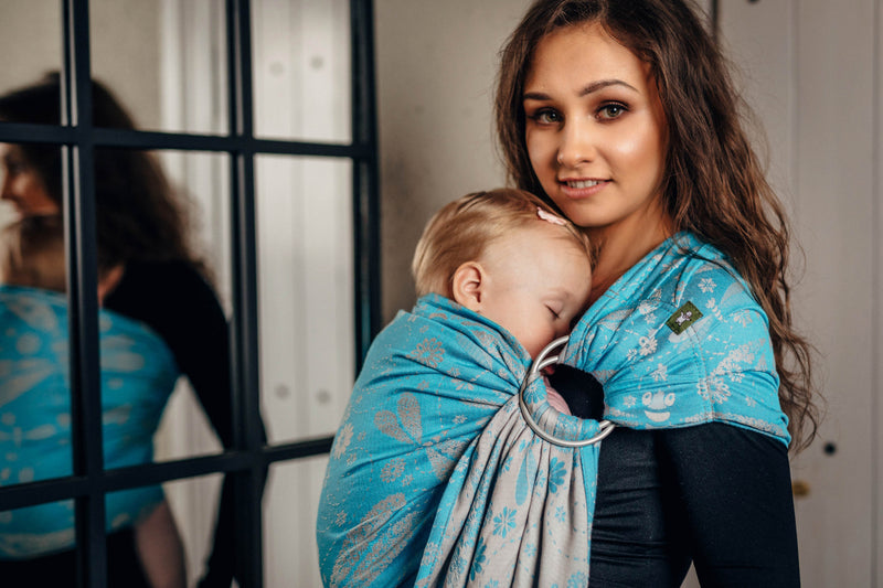 Lenny Lamb Dragonfly Grey and Turquoise Ring Sling