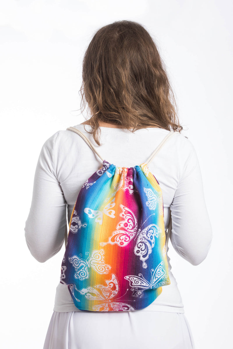 Lenny Lamb Butterfly Rainbow Light Sackpack