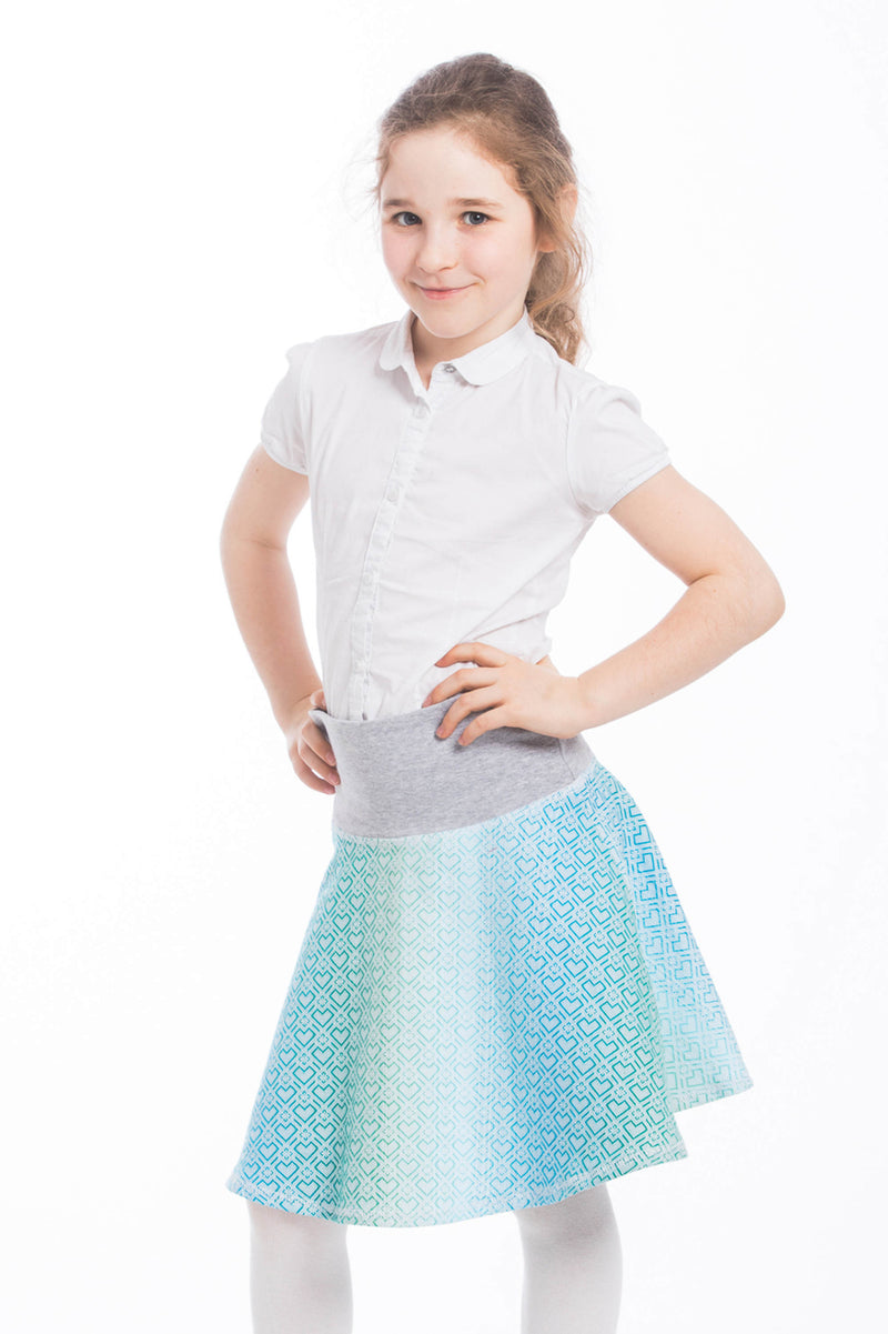 Lenny Lamb Childrens Skirt Big Love Mint