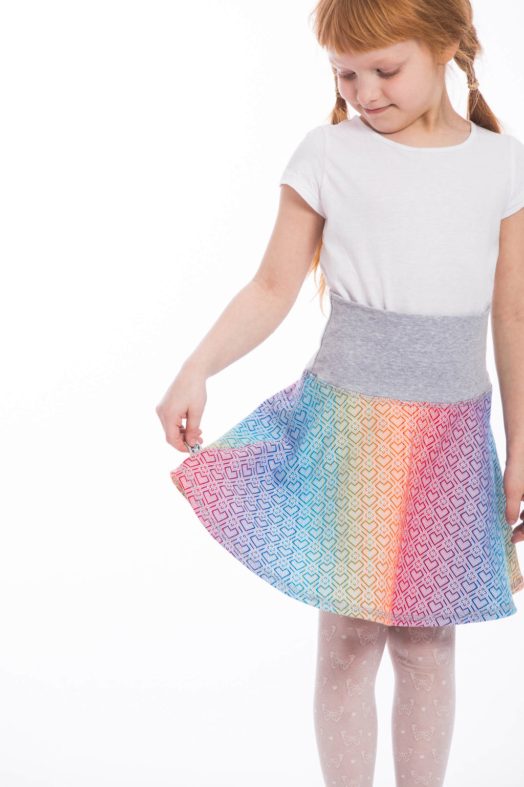 Lenny Lamb Childrens Skirt Big Love Rainbow