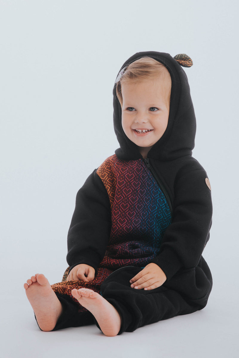 Lenny Lamb Big Love Rainbow Dark Black Jersey Bear Romper