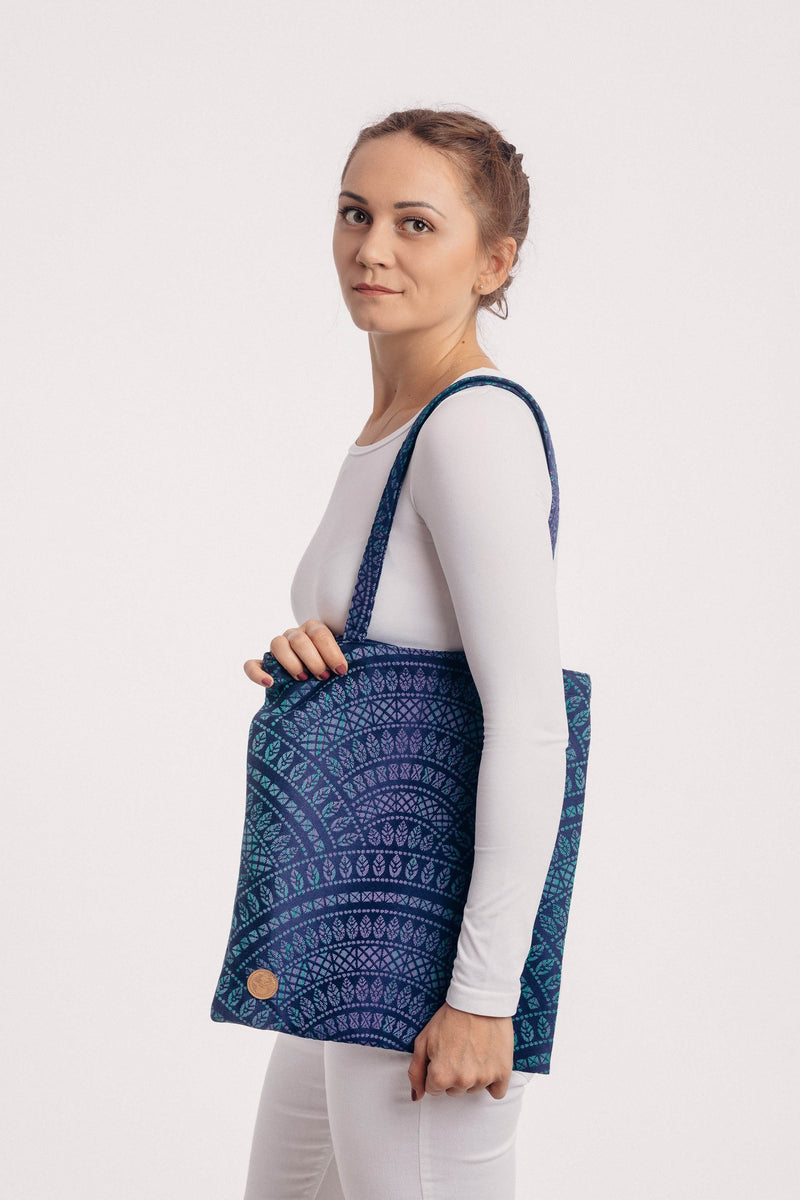 Lenny Lamb Peacock's Tail Provance Shoulder Bag
