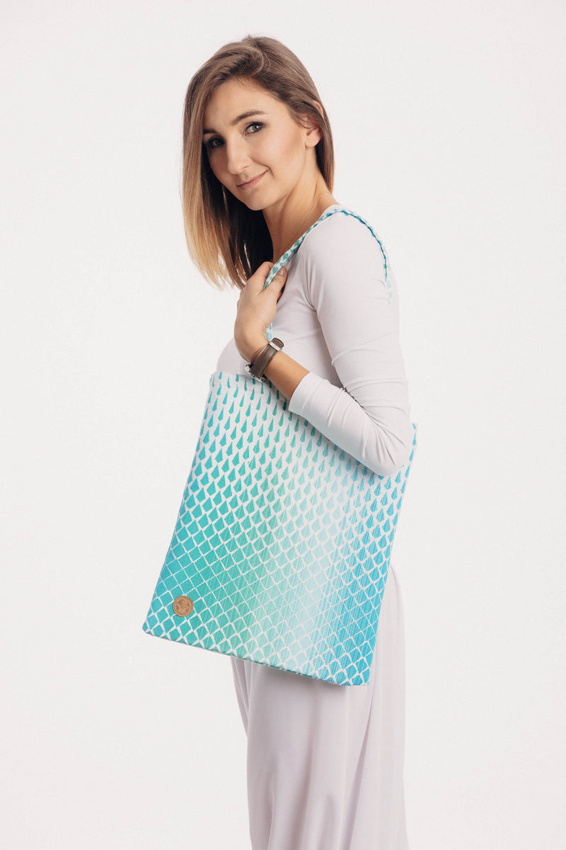 Lenny Lamb Icicles Ice Mint Shopping bag