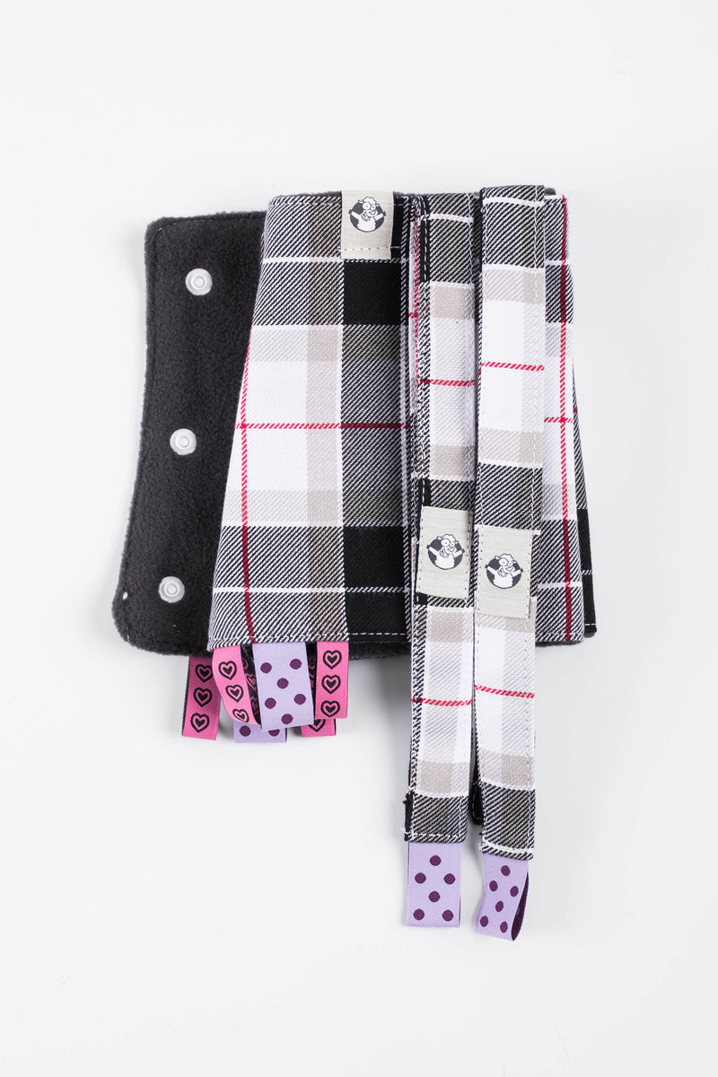 Lenny Lamb Arcadia Plaid Drool Pads and Reach Straps Set