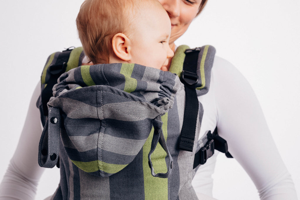 Lenny Lamb Smoky Lime LennyGo Full Buckle Baby Carrier (Soft Structured Carrier SSC)