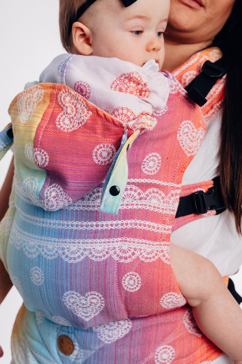 Lenny Lamb Rainbow Lace LennyGo Full Buckle Baby Carrier (Soft Structured Carrier SSC)