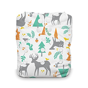 Thirsties One Size All in One Cloth Diaper Woodland