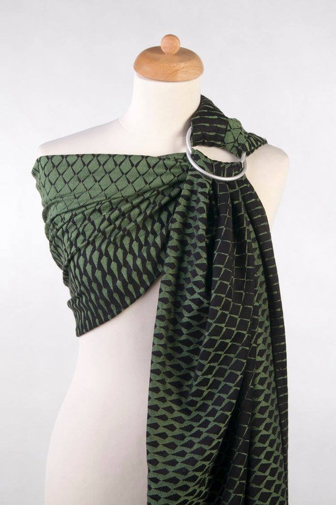 Lenny Lamb Icicles Green and Black (cotton) Ring Sling