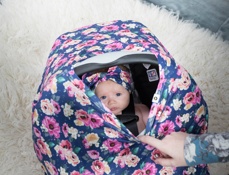 Bumblito Bee Covered Carseat Cover Petit Bouquet