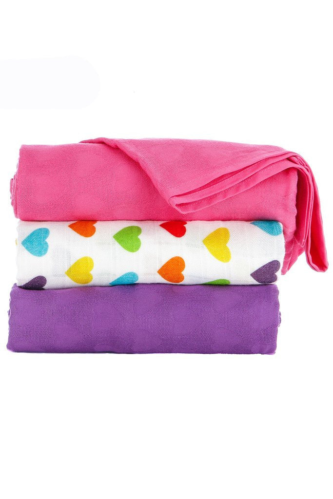 Tula Blanket Set Rainbow Hearts Avery