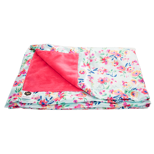 Bumblito Bee Luxe Blankets Aqua Floral