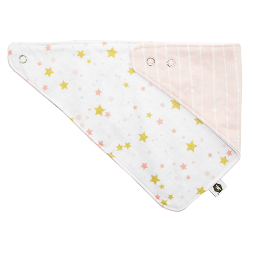 Lullaby Pink Stripes Bumblito Bandana Bib