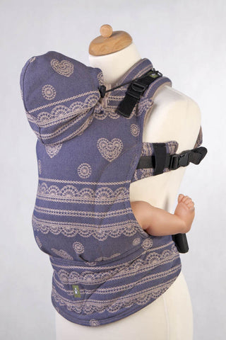 Lenny Lamb Blueberry Lace Ergonomic Full Buckle Carrier (cotton)