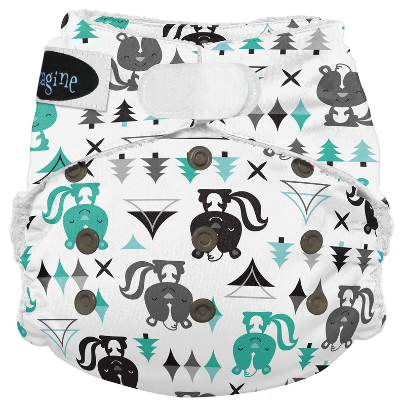 Imagine 2.0 One Size Bamboo All-In-One Cloth Diaper Lil Stinker Hook and Loop