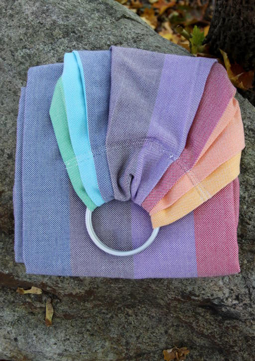 Vanamo Classic Rainbow White Ring Sling (organic cotton) CR White Made in Finland