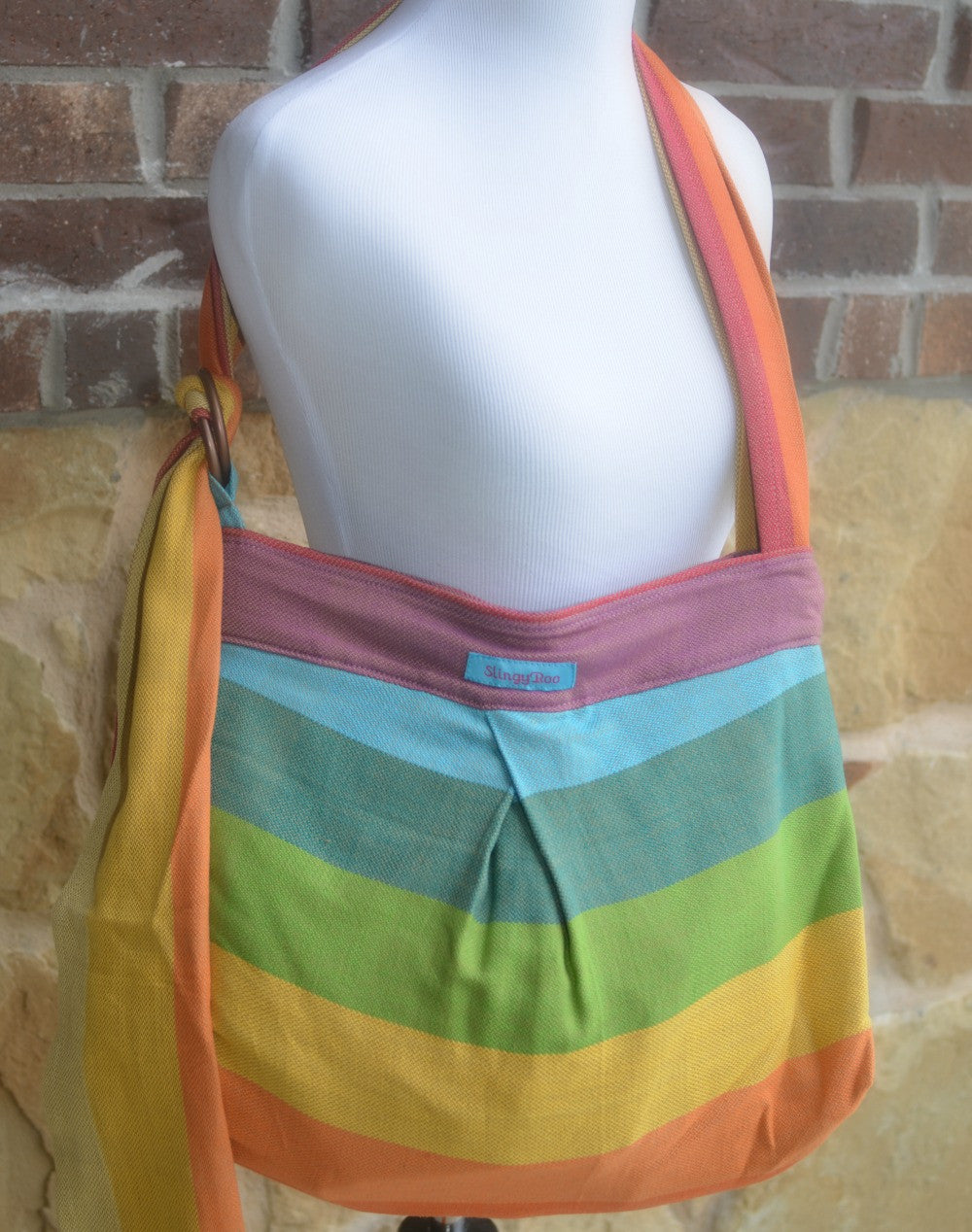 Wompat Slingyroo Bronze Rainbow Conversion Bag