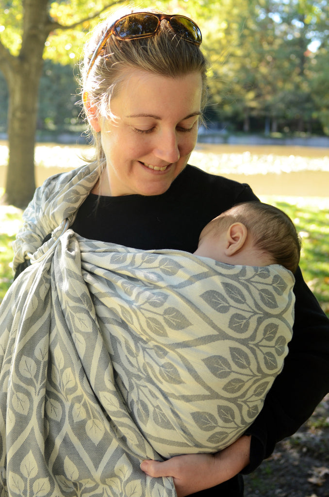 Yaro La Vita Light Grey Ring Sling (cotton)