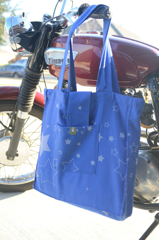 Lenny Lamb Shoulder bag Stars Blue and Grey