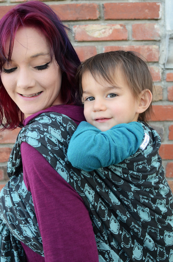 Smitten with Wovens Fatty Catty - Absinthe cotton baby wrap